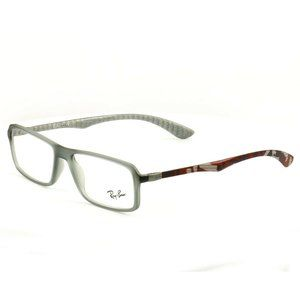 Ray-Ban Rectangular Shape Clear Gray/Red Frame
